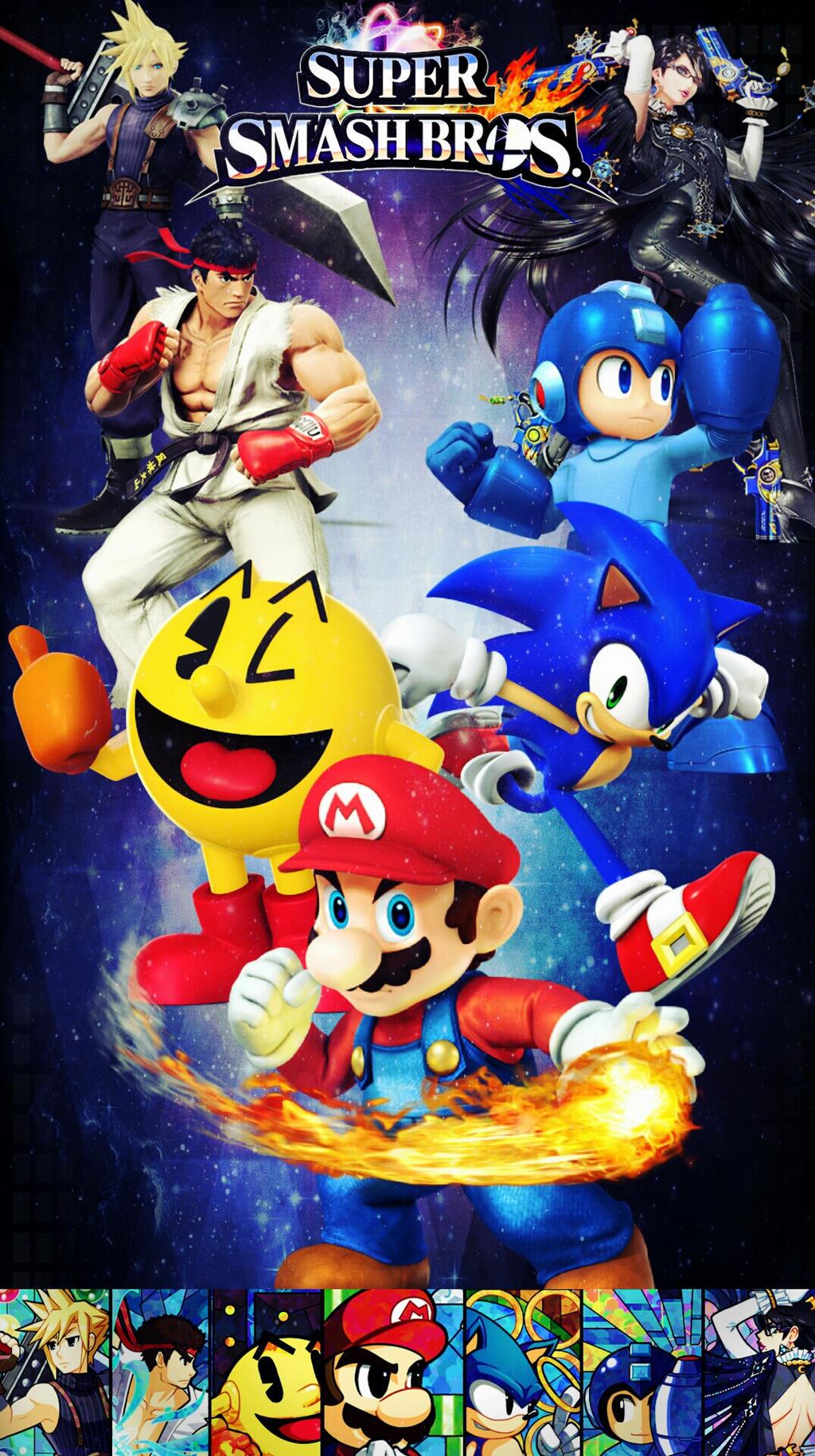 Super Smash Bros phone wallpaper by SabdierZ on DeviantArt