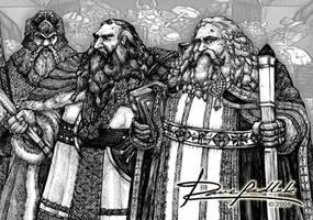 LoTR Dwarvkins by ozziecobblepot