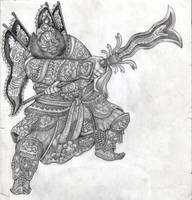 Warlord Zhang Fei by ozziecobblepot