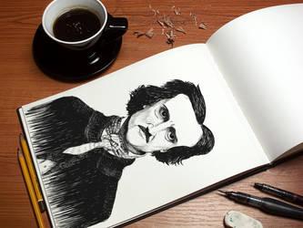 Edgar Allen Poe by orkadesign
