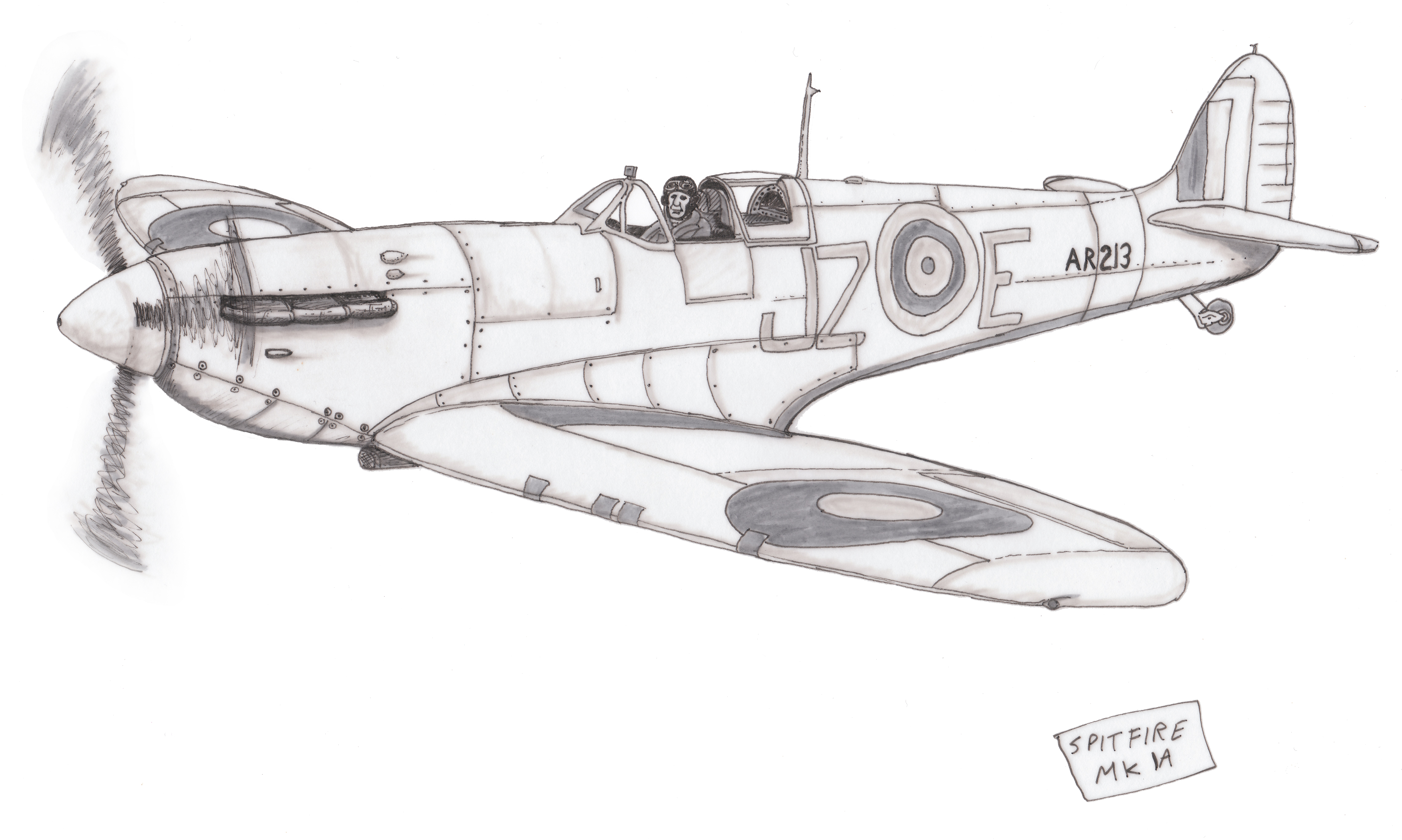 spitfire drawing. spitfire ink on paper by dangerpowers123 drawing