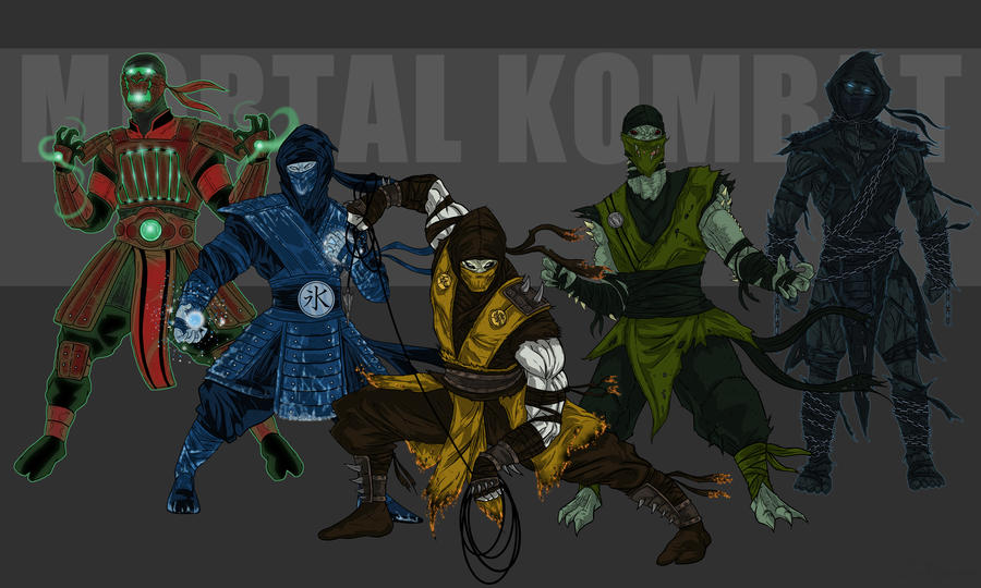 Mortal Kombat all Klassic Ninjas ? SyanArt