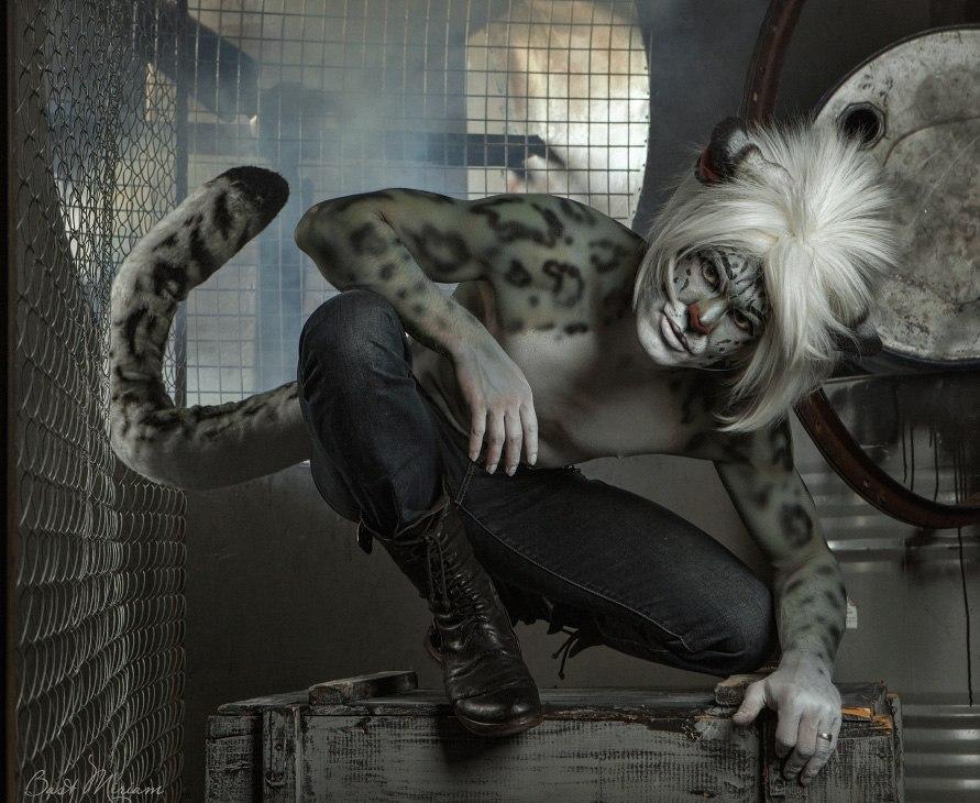 Gabriel. The Snow Leopard. (4) Cat makeup. by Kittenboy
