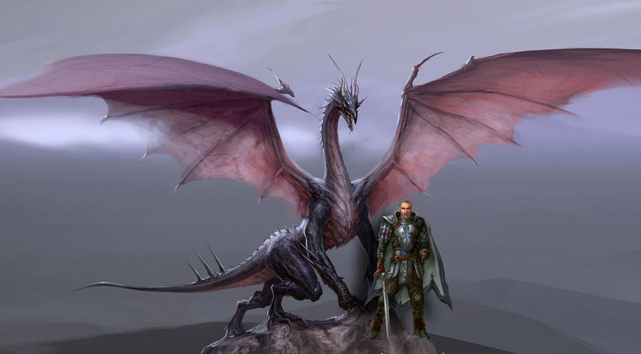 Dragon Age dragon and Knight by Damrick on DeviantArt