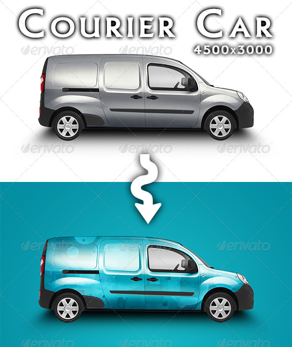 Courier Car Mock-up by feketeandreimihai