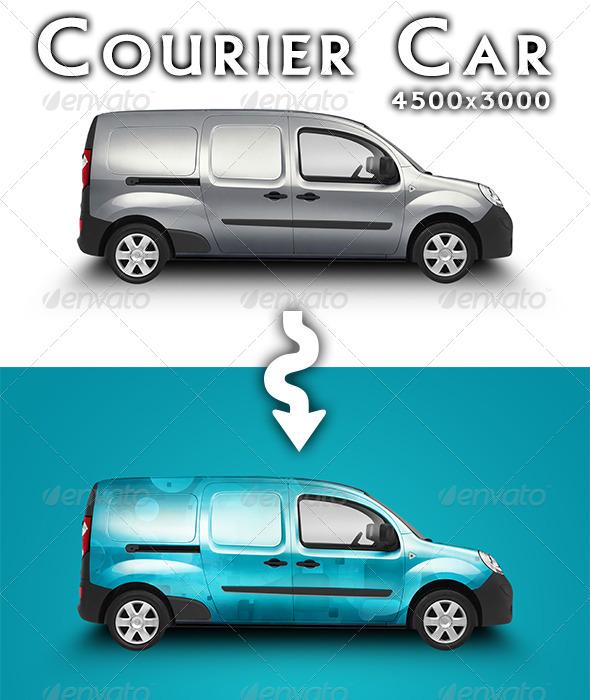 Courier Car Mock-up by feketeandreimihai