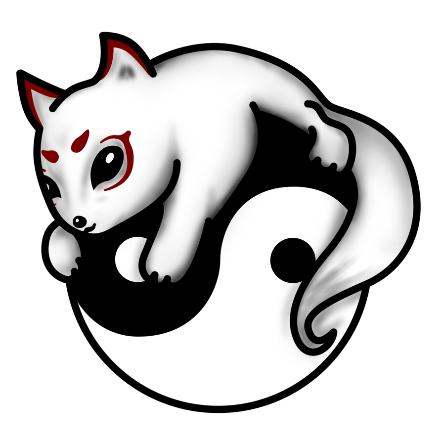 Ying Yang Cat Machine Embroidery Design