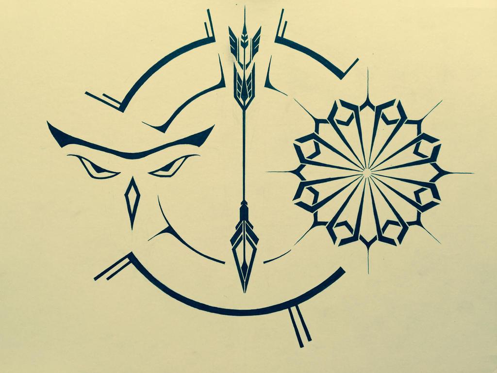 Traditional Tattoo Line Drawing : Tattoo design by retaliation on deviantart