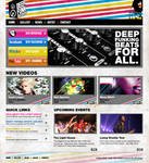 Deep Funk Recrods Web design