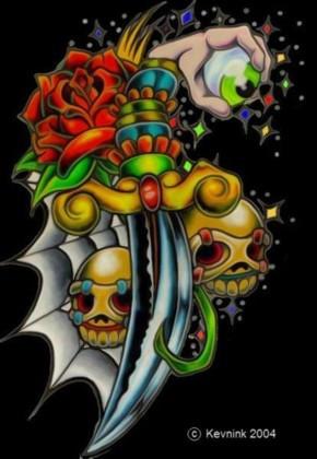 skulls and dagger1 by kevnk