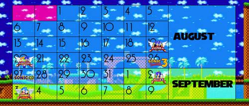 Calender for Extra Life Sonic Classic Extravangaza