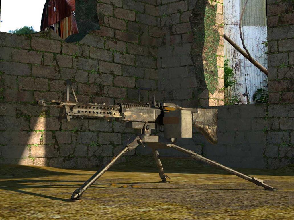 rambo machine gun