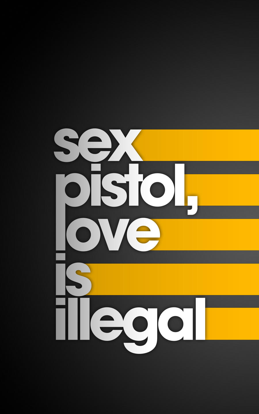 Sex Pistol by Anton101 I Love Typography #6: The Ultimate Source of Text Art Inspiration