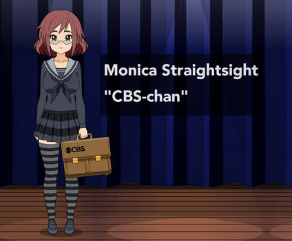 TV-tan - Monica Straightsight, CBS-chan