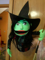 Elphaba the wicked witch of the west puppet