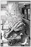 Godzilla spys hiding Hedorah