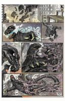 Godzilla vs. Hedorah, page 1. by aaronjohngregory