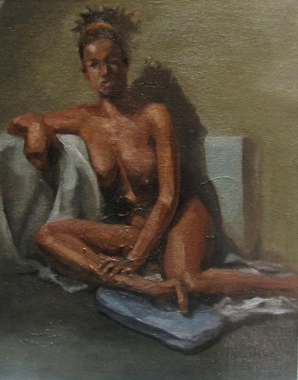 Figure Painting From Live Model By Aaronjohngregory