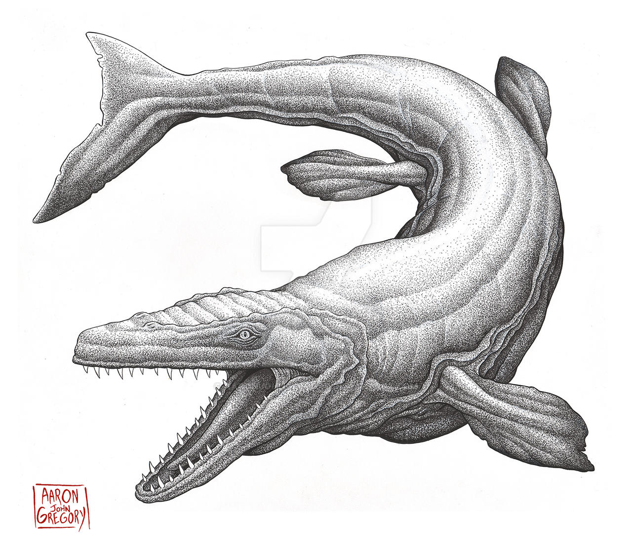 Mosasaurus by aaronjohngregory