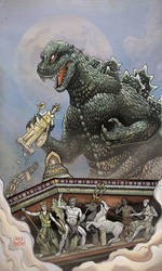 GODZILLA: Rage Across Time - Issue 2 RI cover by aaronjohngregory