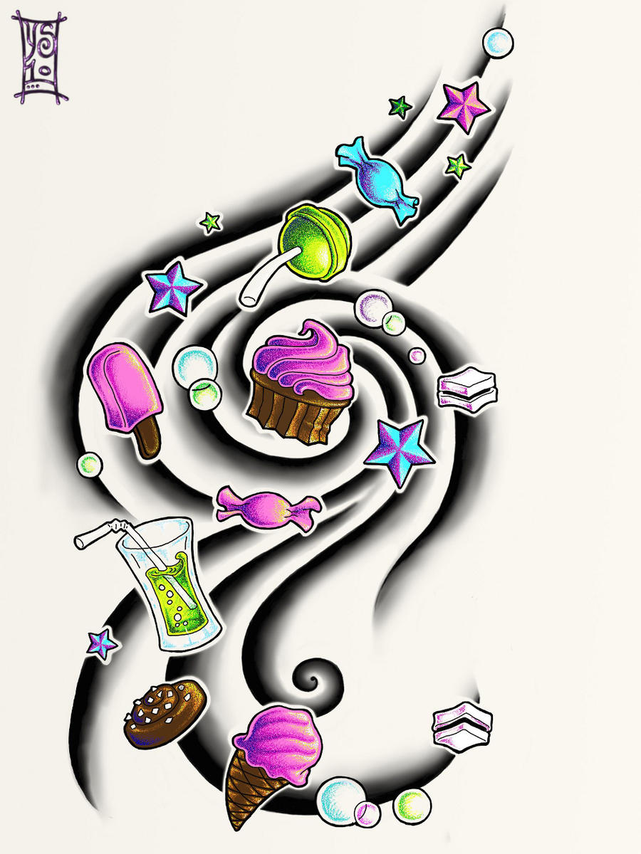 Candy Tattoo Designs