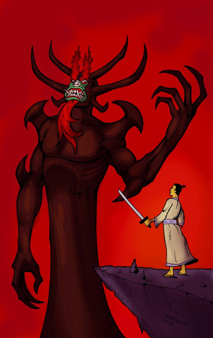 Aku and the Samurai by Szpondi