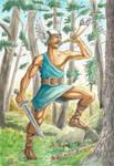 Warrior in the woods