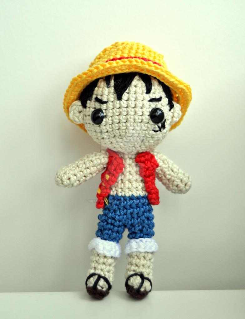 Amigurumi One Piece Doll : Luffy Amigurumi by Breaking-crochet on DeviantArt