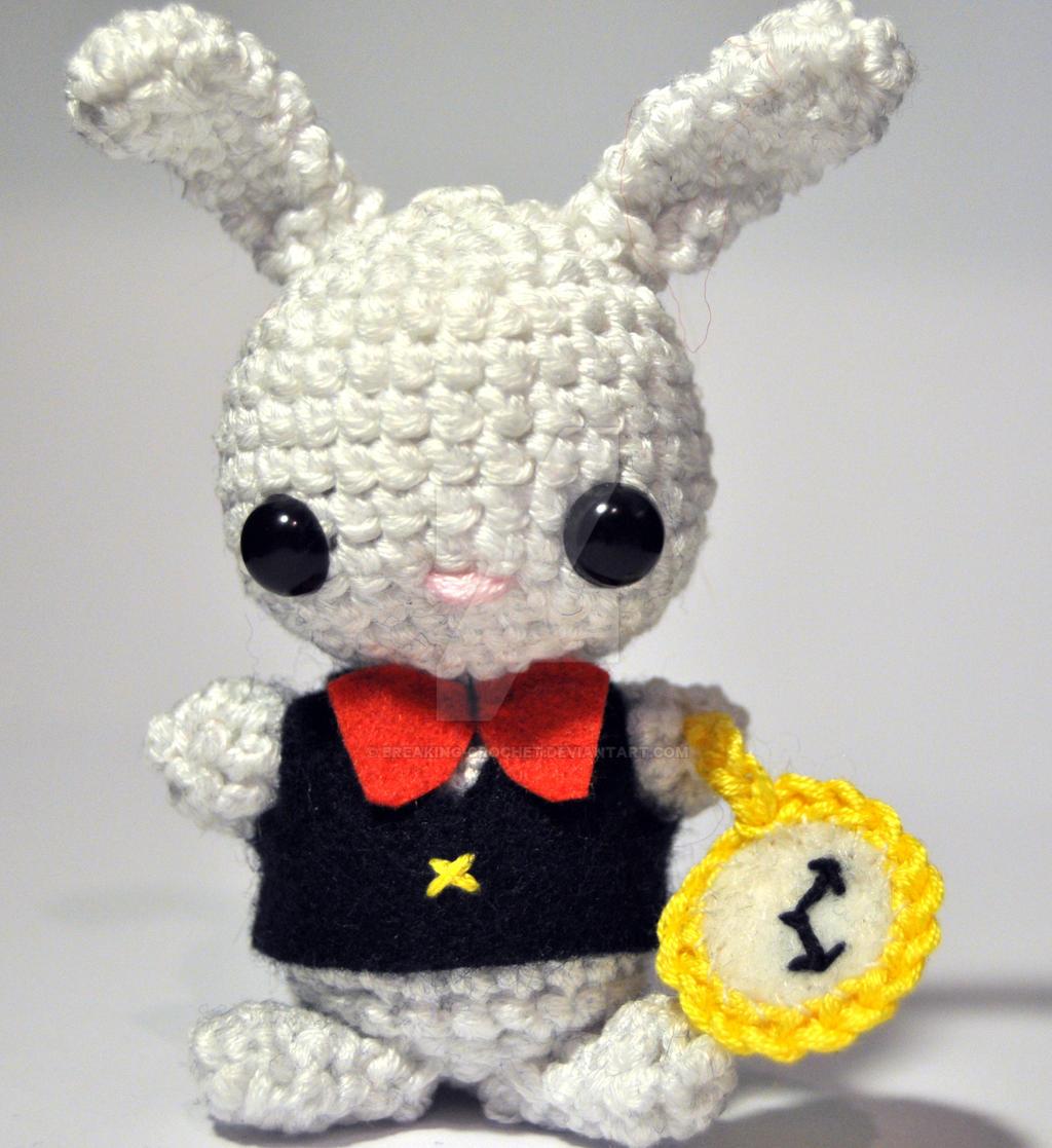 Crochet Doll Scarf Pattern Free : Alice in Wonderland White rabbit! by Breaking-crochet on ...