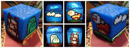 Super Mario World Hama LED Lamp by derdanjo