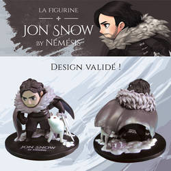 Jon Snow Figure by Alyciane