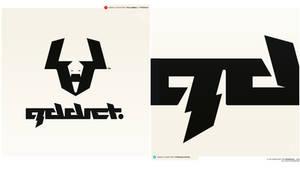 addict logo+type
