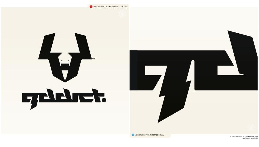 addict logo+type by Raven30412