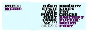 nobodylikesfatchicks font
