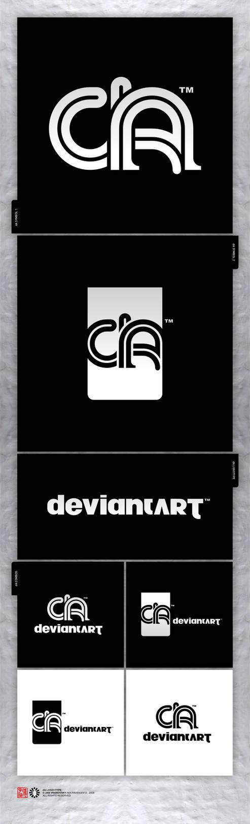 dA logo+type by Raven30412