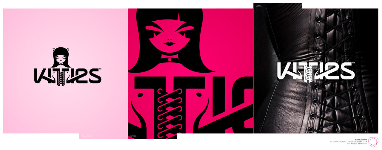 kitties logo+character by Raven30412