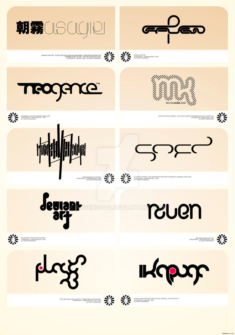 few logotypes by Raven30412