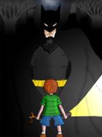 Batman Sketch 2 Coloured by chilipenguin