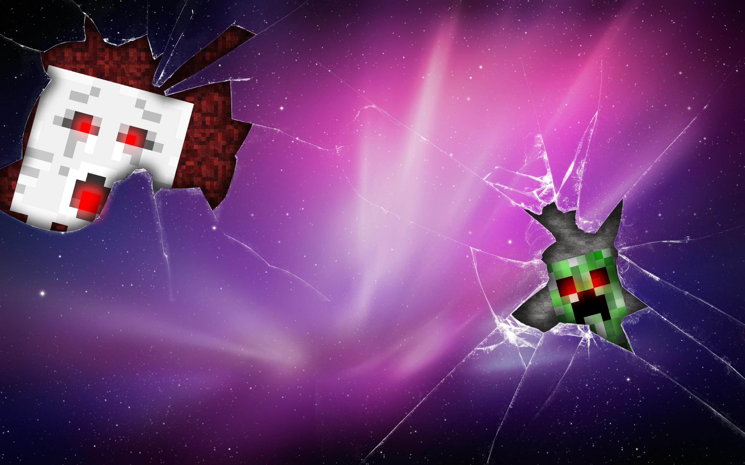 Minecraft Creeper And Ghast Wallpaper By Adscomics