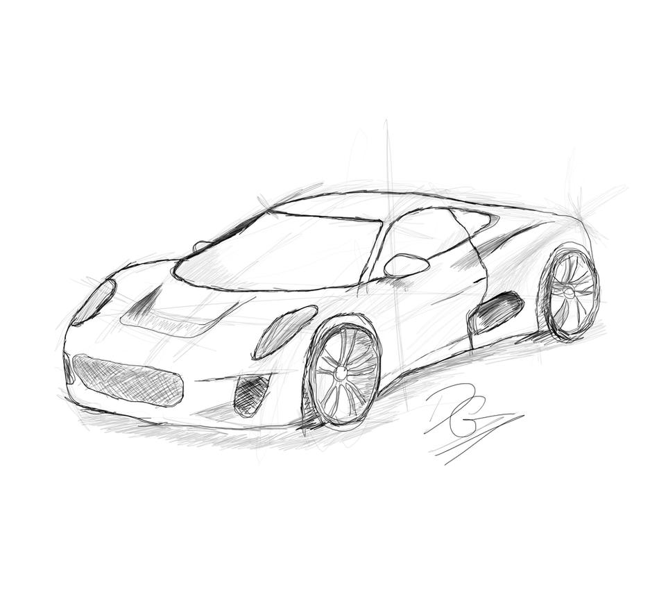 Line Drawings Of Old Cars