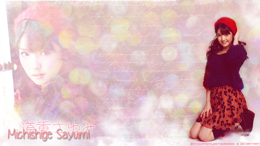 Michishige Sayumi Pink Winter Wallpaper by MyLostMemories ...