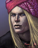 Finrod wearing a turban by Maureval
