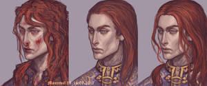 Three faces of Nelyafinwe by Maureval