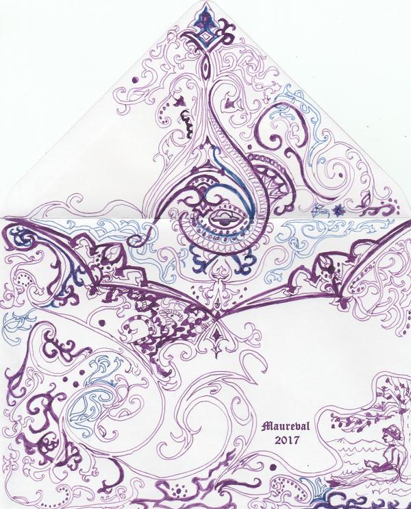 Envelope ornament by Maureval