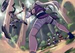 Commission 17 - Shinobi Struggle part 2 by Hadirutopia
