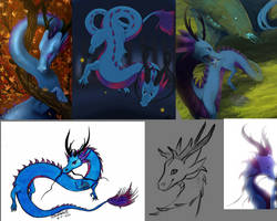 Blue Eastern Dragoness Auction -CLOSED by Deviant-Soulmates