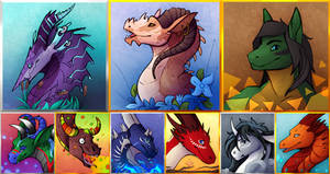 Collab Headshots By Lynx3000 and Jazz-o