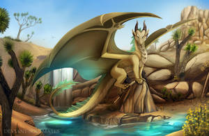 The Golden Oasis by Deviant-Soulmates