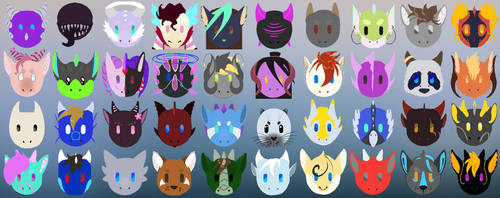 Dragon Society Server Emojis by Deviant-Soulmates