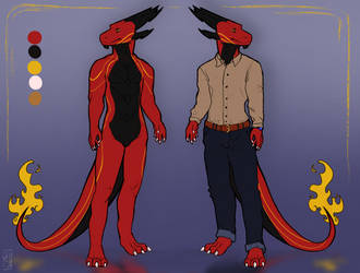 Mythos Anthro Reference Sheet by Deviant-Soulmates
